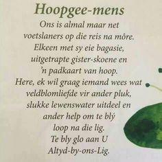 Hoopgee-mens #Afrikaans #2bMe