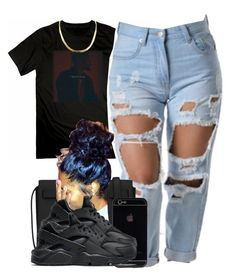 """""""Trapsoul ✨"""" by trillest-fashion ❤ liked on Polyvore featuring Yves Saint Laurent and NIKE"""