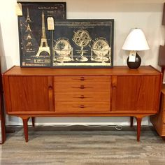 Designers (and those who love great design:)   More awesomeness Mid-Century Danis....   You can check it out here: http://vintagehomeboutique.ca/products/mid-century-danish-modern-teak-sideboard-by-lyby-mobler?utm_campaign=social_autopilot&utm_source=pin&utm_medium=pin