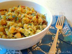 Indian Style Lemony Quinoa and Chickpea Salad