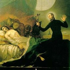 Saint Francis Borgia Performing An Exorcism, Francisco Goya, Oil On Canvas, Anneliese Michel, Francisco Goya, Creepy Stories, Ghost Stories, The Quiet Ones, Unexplained Mysteries, The Exorcist, Spiritual Practices, Spiritual Beliefs