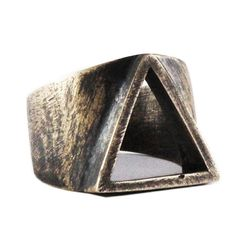 Geometric Ring Mens Jewelry Rustic Jewelry Triangle Ring Bronze Ring Mens Ring Triangle Mens Rings Gift For Men Personalized Ring Mens Gold Rings, Rings For Men, Silver Rings, Rustic Jewelry, Antique Jewelry, Triangle Ring, Silver Ring Designs, How To Make Rings, Bronze Ring