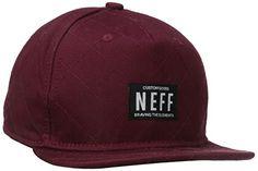 Neff – Gorra de béisbol – para hombre rojo rojo (Maroon) unisex ea6e0646655