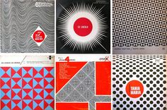 "The Bridget Riley Sound: If manufacturers of the were trying to give their packaging the ""Bridget Riley Look""— it was music packaging that really did it Typographic Poster, Typography, Lincoln, Astrud Gilberto, Bridget Riley, Album Cover Design, Concrete Art, Vintage Records, Op Art"