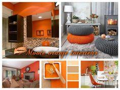 Bekijk de foto van liepje met als titel mooie oranje interieur. Collage made by…