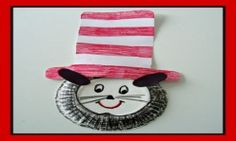 PRESCHOOL DR SEUSS CRAFT: Cat In The Hat Paper Plate Craft & Birthday Song for Kids!