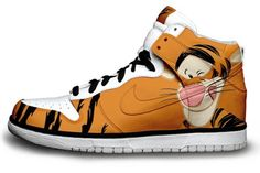 Seriously need these! Nike Dunks SB High Disney Shoes-Tiger | Colorful Nikes