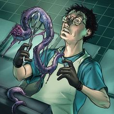 Man, it's been a while. Time to get back to posting the Dresden Files arts. Everyone's favorite Medical Examiner, Waldo Butters! #dresdenfiles #instaart #dresdenfilescardgame #photoshop #digitalart #art #artwork #jimbutcher #tentacle