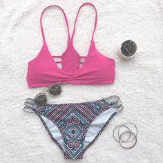 Cupshe Leave You Breathless Cross Bikini Set