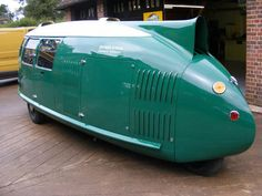 Buckminster Fuller's Dymaxion Car. A replica commissioned by Norman Foster