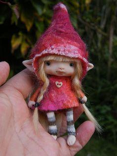 sweet blonde posable ooak fairy fairie elf by throughthemagicdoor, $98.00