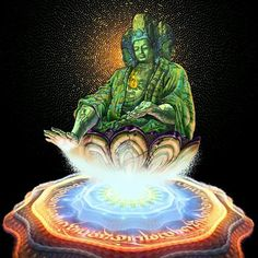 Maitreya ..ink/colored pencil/digital 2013 #maitreya #buddha