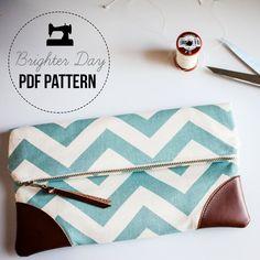 DIY Sewing Pattern & Tutorial Sydney Clutch by BrighterDay on Etsy, $8.00
