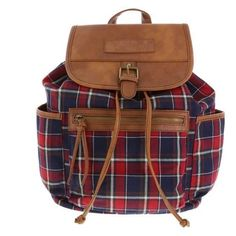 American Eagle backpack This backpack I've never used before! It has many different pockets and is pretty light. It's red, blue and like flannel material! American Eagle Outfitters Bags Backpacks