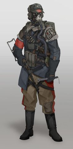 Nazi Tank Crew inspired by the world of Metro: Last Light and Metro 2033.:
