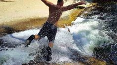 WILD Natural Water PARK in Sequoia National Forest. Water Slides, Cliff ...