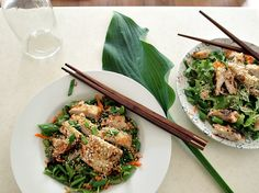 Delicious chicken salad, asian style
