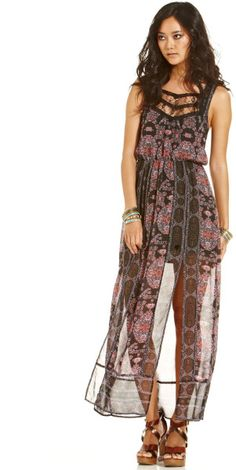 9646a87f4b Love this  Lace Printed Maxi Dress  Lyst Free People Maxi Dress