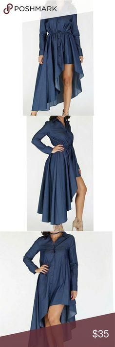Very Sassy Midi Dress Side Hi-lo dress. Midi jean dress 👗 Dresses Midi