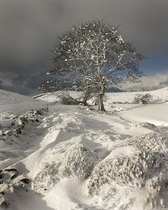 """""""Clwydian snow by Pete Hyde""""  The term 'Clwydian' was new to me, so I looked it up: The Clwydian Range is a series of hills and mountains in north east Wales that runs from Llandegla in the south to Prestatyn in the north, with the highest point being the popular Moel Famau."""