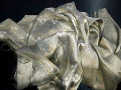 Pure Linen Saree with beautiful Golden and Silver jari work-RKG Handloom Saree, Silk Sarees, Professional Women, Saree Blouse, Indian Wear, Hand Weaving, Lion Sculpture, Pure Products, Statue