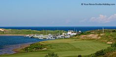 This is a view of a small fishing harbour in the town of Inverness on the Ceilidh Trail on Cape Breton Island, Nova Scotia.  The picture was taken from the Celtic Shores Coastal trail which is a 92-km long recreational trail.