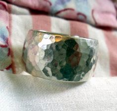 RING  HAMMERED  Wide  BAND   925  Sterling Silver  by MOONCHILD111, $22.95 https://www.etsy.com/shop/MOONCHILD111