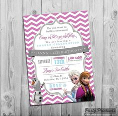Items similar to Frozen Birthday Invitation, Frozen Invitation, Printable Frozen Birthday Party Invitations with Elsa Anna Blue Pink Purple Frozen Party Idea on Etsy Frozen Party Invitations, Print Your Own Invitations, Printable Birthday Invitations, Invitation Cards, Wedding Invitations, Invitation Design, Wedding Stationery, Invites, Frozen Themed Birthday Party