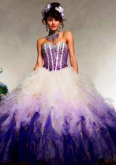 purple ombre dresses