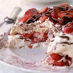 Strawberry-Chocolate Meringue Torte   MyRecipes.com