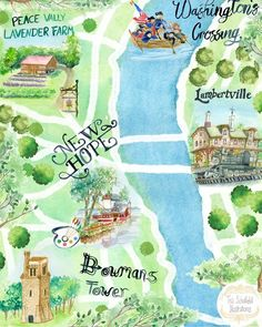My favorite places and spaces all in my illustrated map of Bucks County PA! Thank you to the #squarecarouselillustrationcollective for yet another awesome project! Map available for licensing and wholesale for local shops! Will also be painting more items like this soon! ❤️🎨✨..Challenge 103 : Love Your 'Hood : Central Bucks County, PA MapSome of my favorite places and spaces in Central Bucks County and along the historic colonial Delaware River. I've always loved history, food, and art, and…