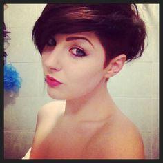 #hair #sidecut #asymmetrical