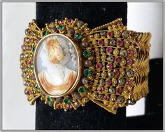 Antique Georgian cameo and pinchbeck by ScheherazadeAntiques