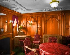 C-62 Cabin First Class Louis XV Style Sitting Room (Colorized)