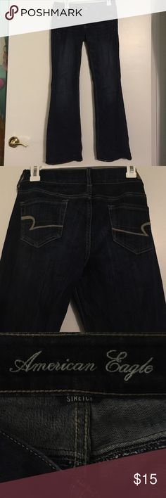 American Eagle Jeans Dark wash, sketch, and flared blue American Eagle jeans! American Eagle Outfitters Jeans Flare & Wide Leg