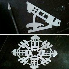 Tardis snowflakes