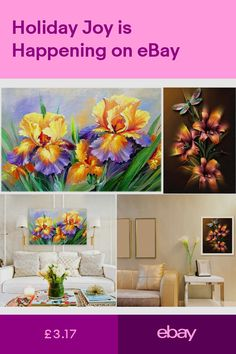 10bbcf8cf1 UK Flower Dragonfly Full Drill 5D Diamond Painting DIY Embroidery Cross  Stitch
