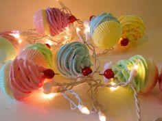 Fake Cupcake Marie Antoinette String Lights