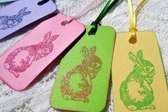 Bashful Bunny Tags 6 by PurpleCape on Etsy, $4.00