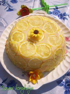 Citromos Charlotte  Szani Konyhája - sütni-főzni, csakis szívvel lélekkel!