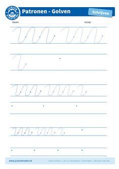 Golven [4] - Oefen met dit werkblad het leren schrijven en de fijne motoriek. Dit werkblad biedt het schrijfpatroon van grotere golven aan. Je kunt het blad ook vaker printen, zodat je extra veel kan oefenen! Download ook de andere oefenbladen met het schrijfpatroon golven.