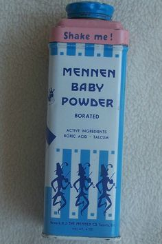 Vintage MENNEN BABY POWDER TIN RATTLE