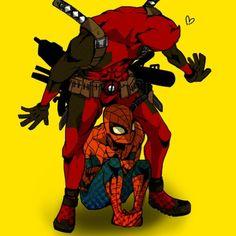 Inbetween my legs Spideypool, Superfamily Avengers, Marvel Comic Universe, Marvel Memes, Marvel Avengers, Marvel Funny, Deadpool Y Spiderman, Spaider Man, Best Superhero
