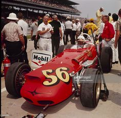 1964 - Jim Hurtubise ( Lines up on the Grid in his Offenhauser Powered Hurtubise 64 for the Running of the Indianapolis 500 Indy Car Racing, Indy Cars, Cowgirl Photo, Classic Race Cars, Indianapolis Motor Speedway, Speed Racer, My Dream Car, Dream Cars, Old Race Cars