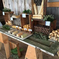 Gaga over something so simple as making a bread display beautiful! Flavored butter array