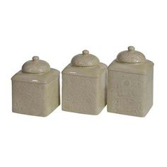 Taupe Western Canister Set Western Kitchen And Dining Decor