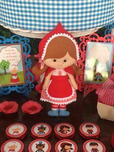 A Chapeuzinho Vermelho feita em feltro, por Isabel Ferreira