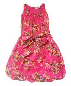 Loving this Fuchsia Floral Devon Bubble Dress - Toddler & Girls on #zulily! #zulilyfinds