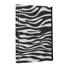 Animal Print Fur Skin Zebra Black White iPad Folio Cover #iPad #Zazzle