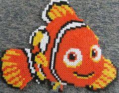 Nemo bead pattern - DIY and Crafts Perler Bead Designs, Hama Beads Design, Diy Perler Beads, Perler Bead Art, Hama Beads Disney, Perler Bead Disney, Pearler Bead Patterns, Perler Patterns, Melted Bead Crafts